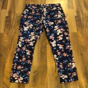 Khakis by GAP floral pants
